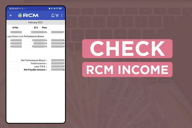 Check Rcm Business Income chart | rcm business commission
