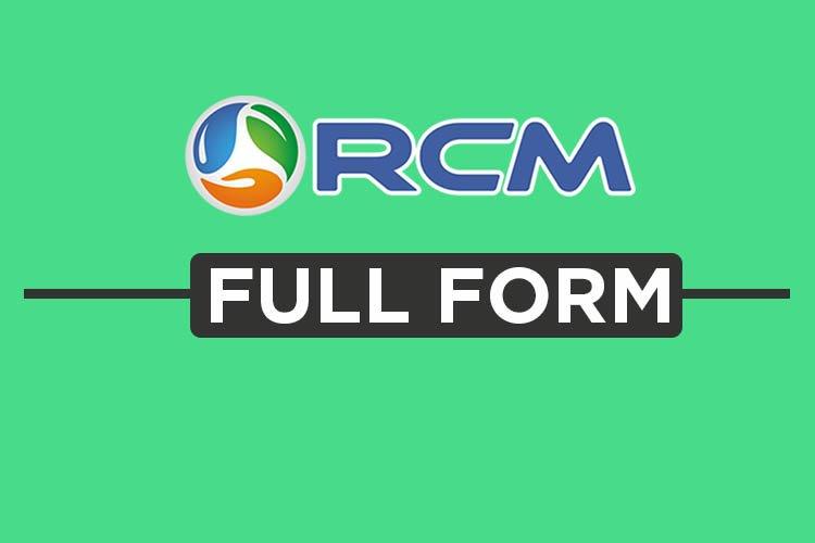 Rcm Full Form (right concept marketing), full form rcm